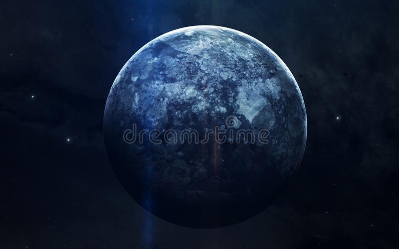 Imagem realística de Netuno, planeta do sistema solar Imagem educacional Elementos desta imagem fornecidos pela NASA fotos de stock