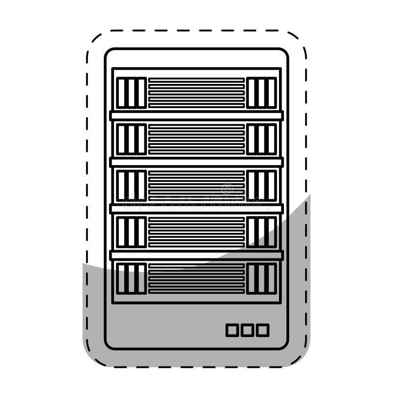imagem relacionada dos ícones do centro do alojamento web ou de dados ilustração royalty free