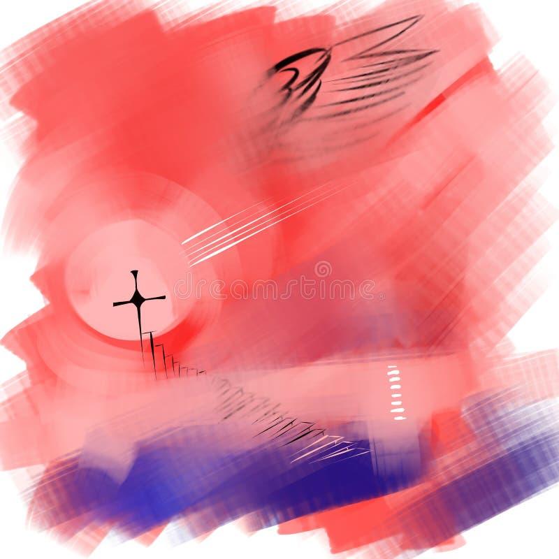 Imagem religiosa da abstração ilustração stock