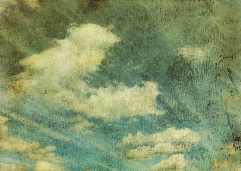 Imagem retro do céu ilustração stock