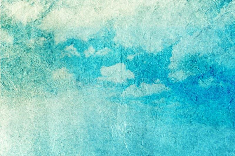 Imagem retro do céu nebuloso imagem de stock royalty free