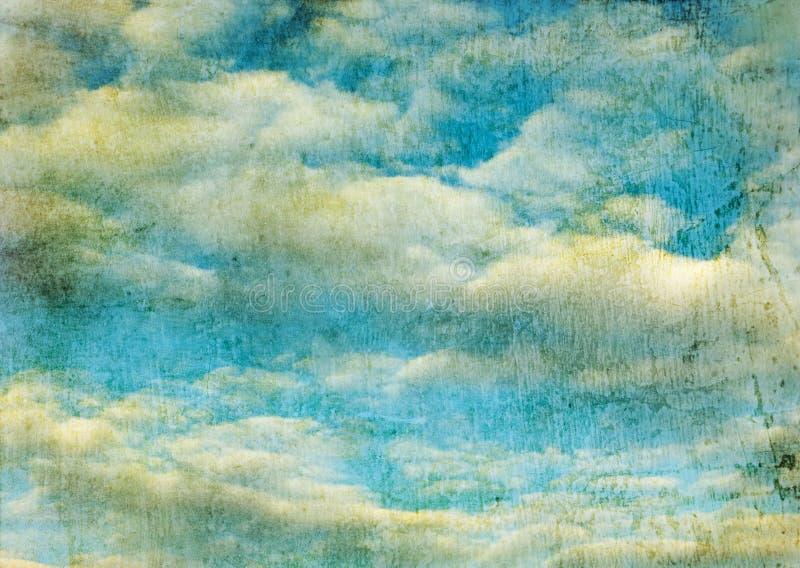 Imagem retro do céu nebuloso ilustração royalty free