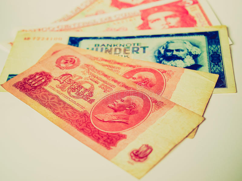 Imagem retro do dinheiro do olhar fotos de stock royalty free