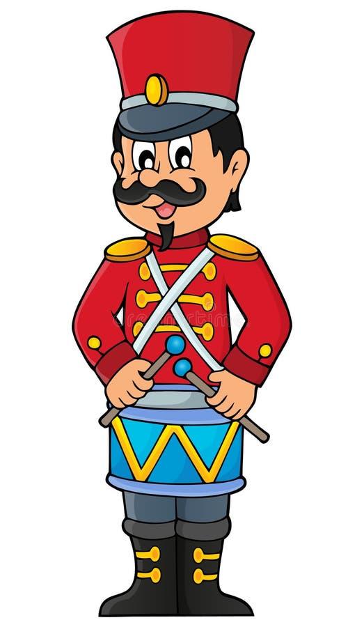 Imagem retro 1 do tema do soldado ilustração royalty free