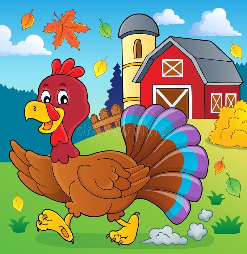 Imagem running 2 do tema do pássaro do peru ilustração royalty free