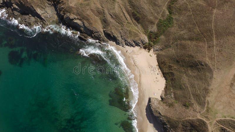 Imagem só da antena da praia imagens de stock