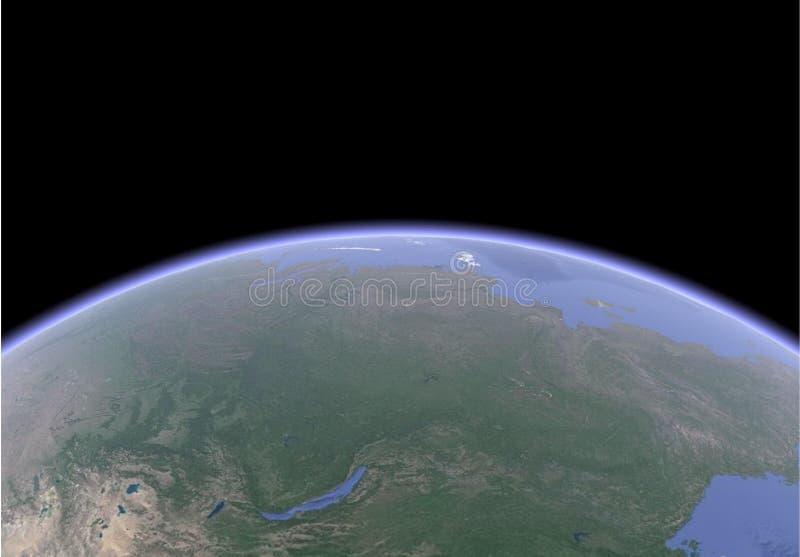 Imagem sat?lite da terra ilustração do vetor