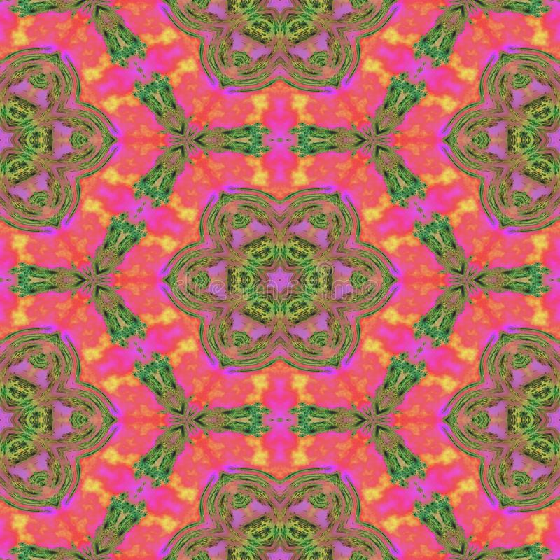 Imagem sem emenda cor-de-rosa calidoscópico floral do teste padrão ilustração stock