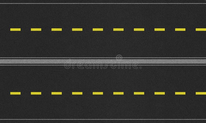 Imagem sem emenda da textura da estrada de quatro pistas fotografia de stock royalty free