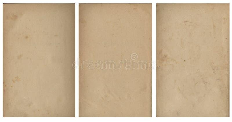 Imagem sem emenda fechado de uma folha do papel amarelado velho com os pontos marrons escuros, traços de tempo fotografia de stock royalty free