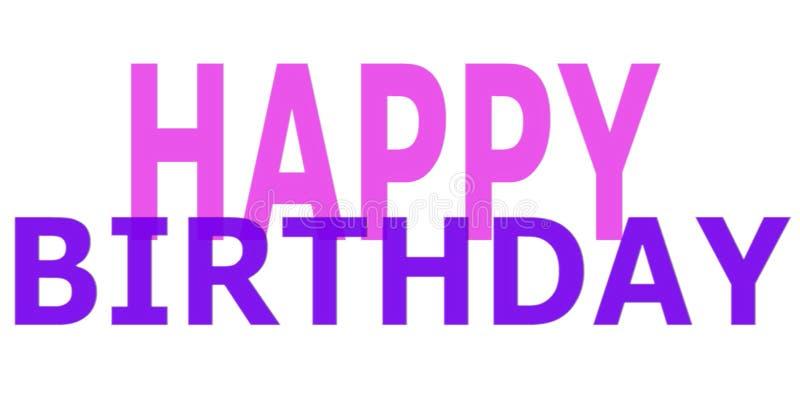 Imagem simples do desejo do feliz aniversario ilustração stock