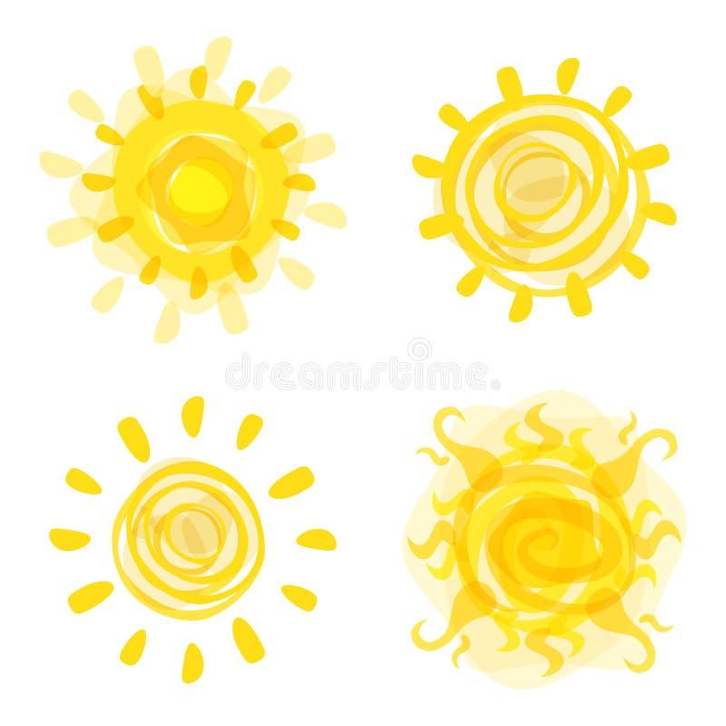 Imagem tirada mão do sol Ilustração do vetor ilustração do vetor