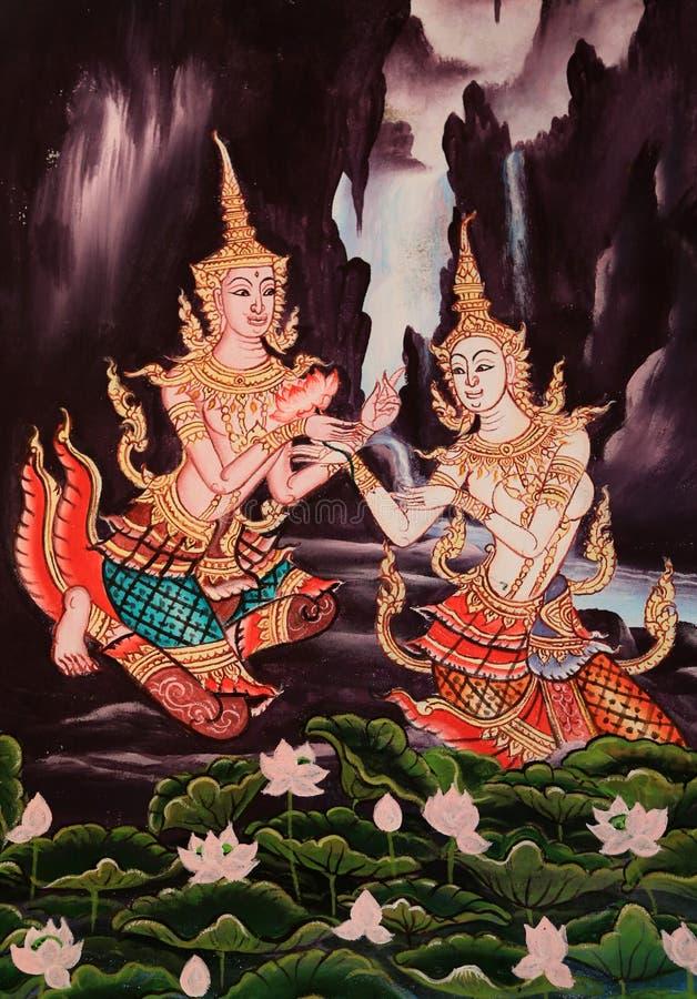 Imagem tradicional no estilo tailandês imagem de stock royalty free