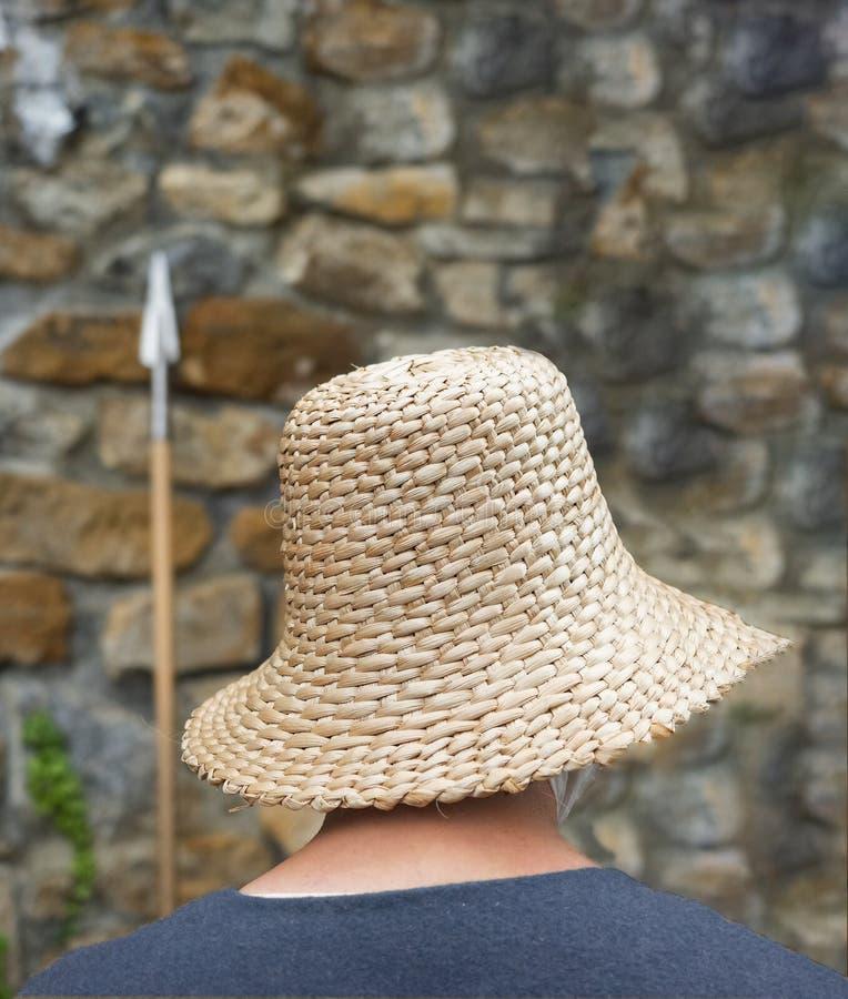 Imagem traseira do chapéu medieval imagem de stock royalty free