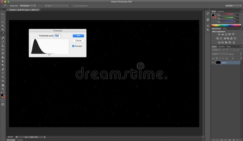 Imagem tutorial de Adobe picosegundo ilustração stock