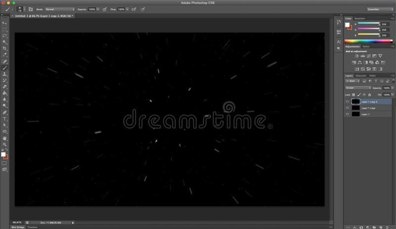 Imagem tutorial de Adobe picosegundo ilustração do vetor