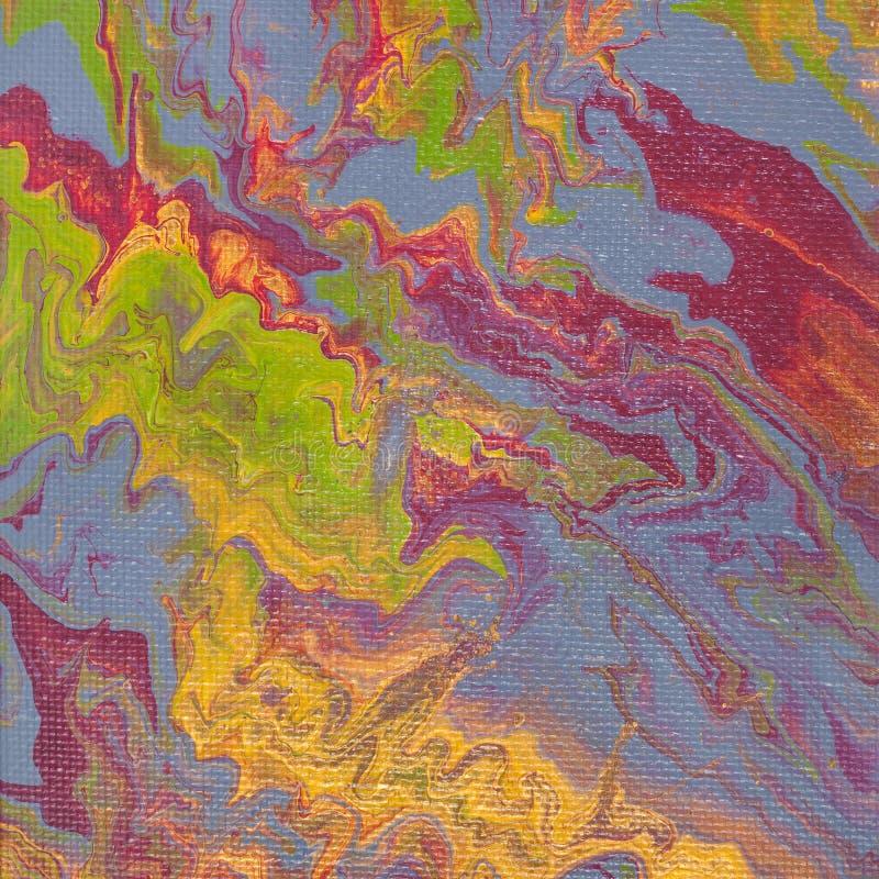 Imagem verde e cinzenta na técnica acrílica fluida imagens de stock