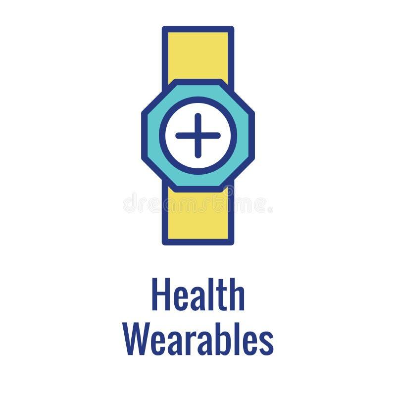 Imagem Wearable da tecnologia ou do m?bil/tabuleta de w do ?cone da sa?de de Digitas ilustração do vetor