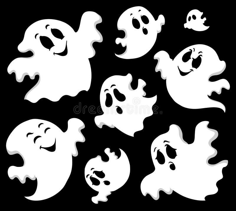 Imagen 1 del tema del fantasma ilustración del vector