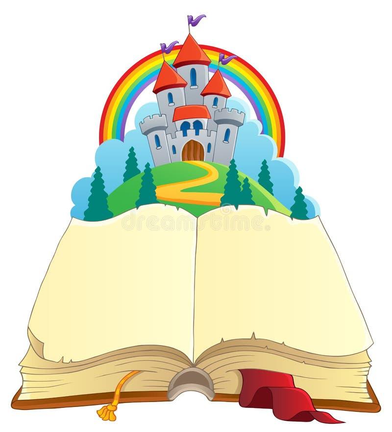 Imagen 1 del tema del libro del cuento de hadas stock de ilustración