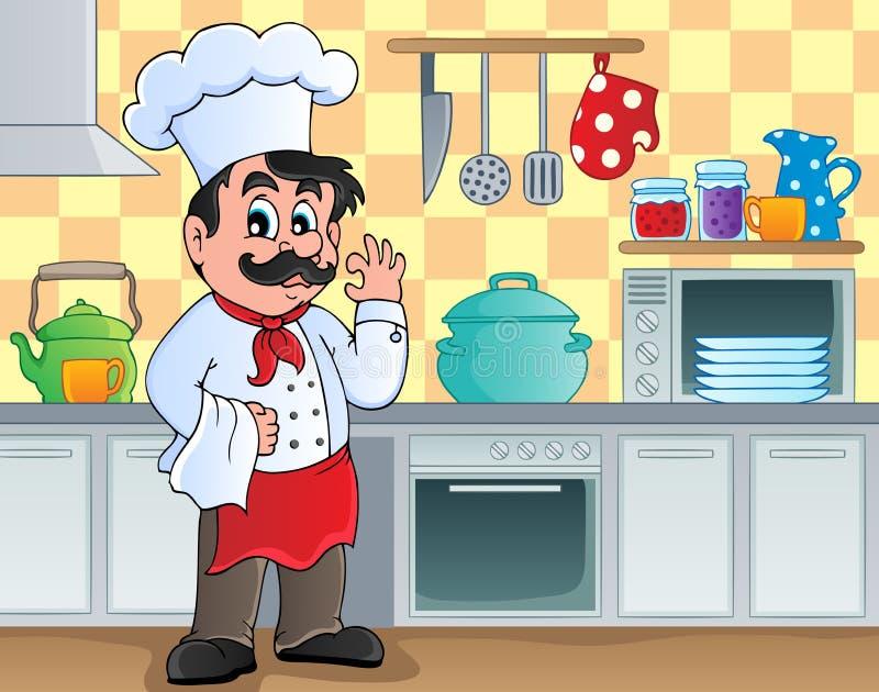 Imagen 2 del tema de la cocina ilustración del vector