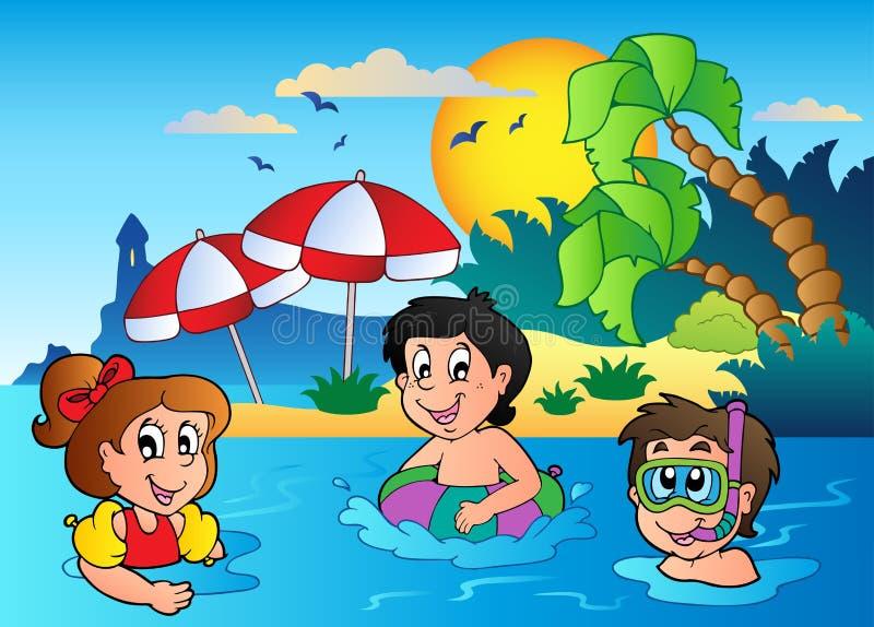 Imagen 2 del tema del verano ilustración del vector