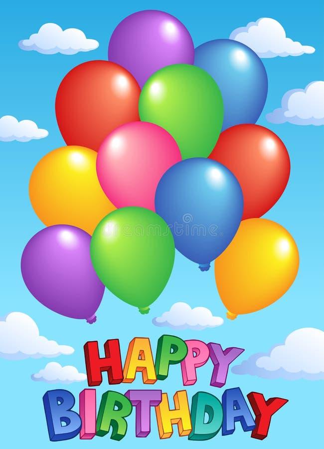 Imagen 4 del asunto del feliz cumpleaños ilustración del vector
