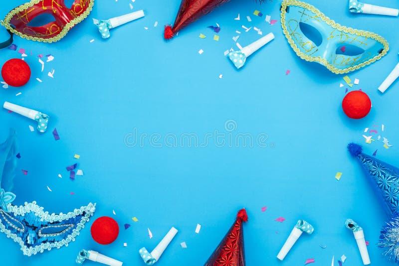 Imagen aérea de la opinión de sobremesa de la estación del carnaval o del fondo colorida hermosa de Mardi Gras del apoyo de la ca fotos de archivo