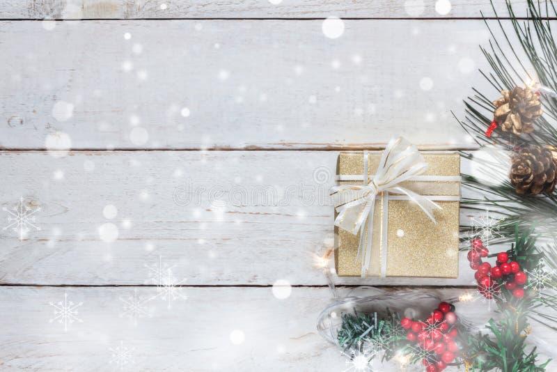 Imagen aérea de la visión superior del concepto de la Feliz Navidad y de la Feliz Año Nuevo imágenes de archivo libres de regalías