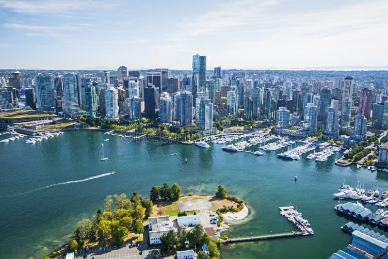 Imagen aérea de Vancouver, A.C. fotos de archivo
