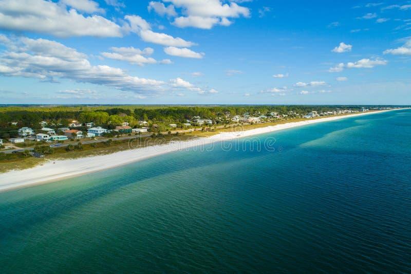 Imagen aérea del abejón de FL de la playa de México imagenes de archivo