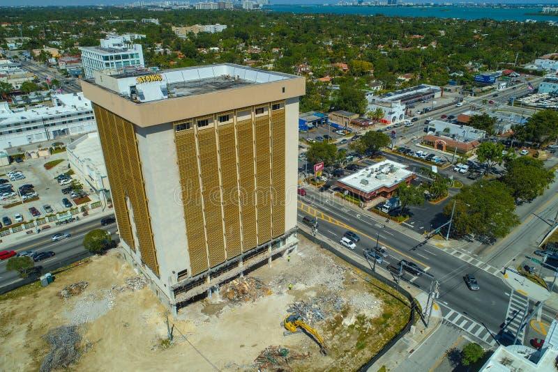 Imagen aérea del edificio viejo de la inmigración de Miami foto de archivo