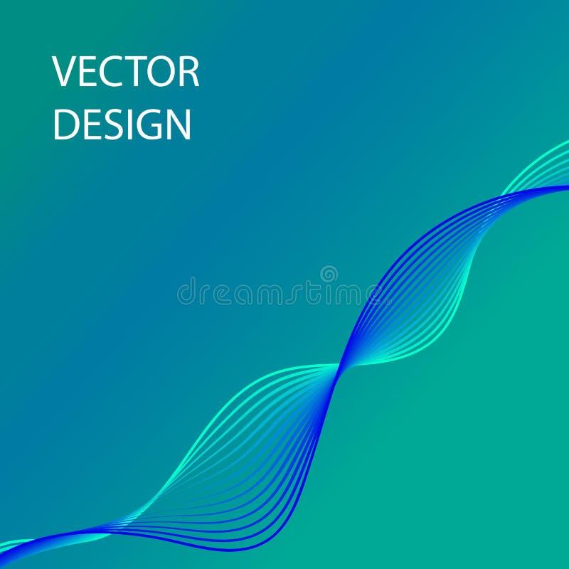 Imagen abstracta con las líneas coloridas fondo de la curva libre illustration