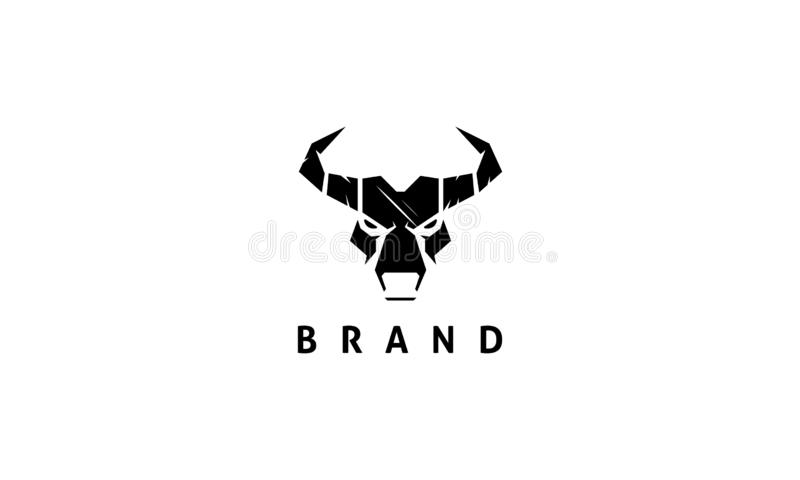 Imagen abstracta de la cabeza de un toro ilustración del vector