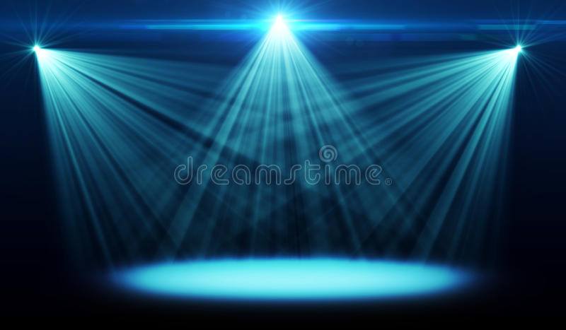 Imagen abstracta de la iluminación del concierto