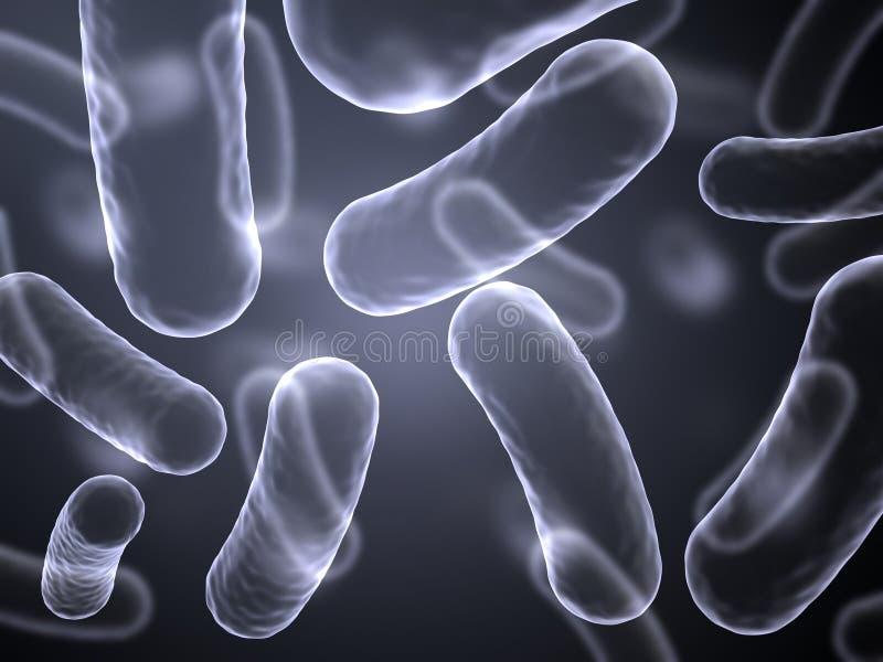 Imagen abstracta de la radiografía de las células de las bacterias ilustración del vector