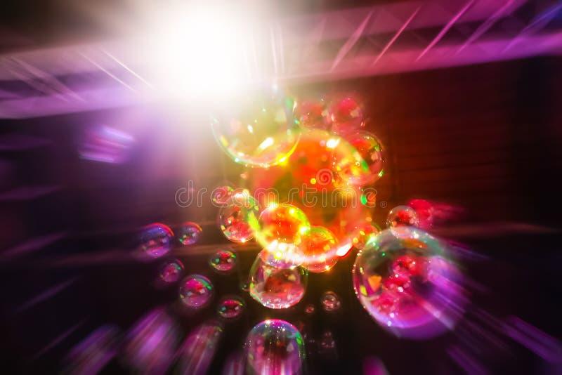 Imagen abstracta de las burbujas de jabón imagen de archivo libre de regalías