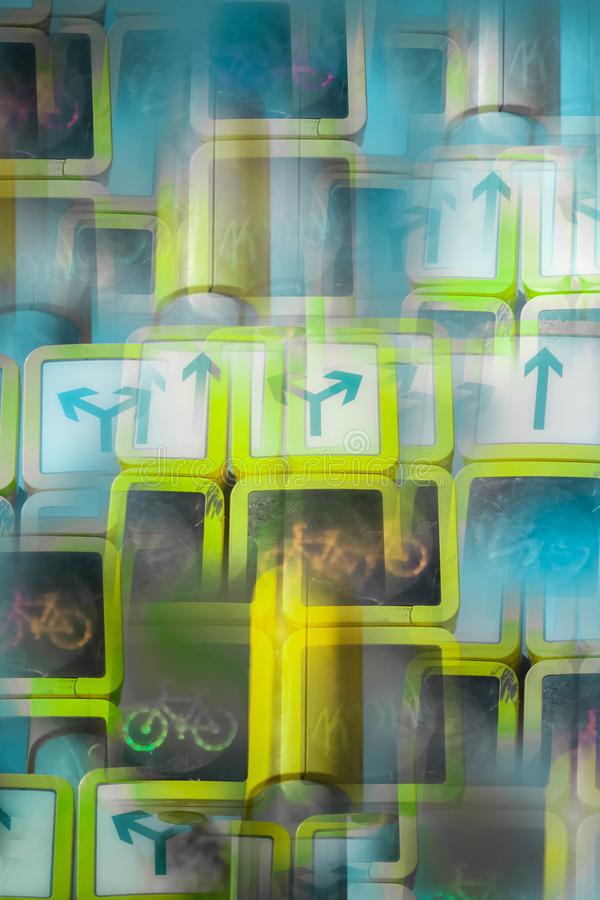 Imagen abstracta de un semáforo stock de ilustración
