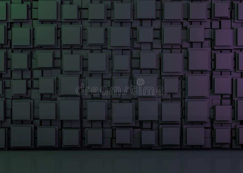 Imagen abstracta del fondo de los cubos 3d ilustración del vector