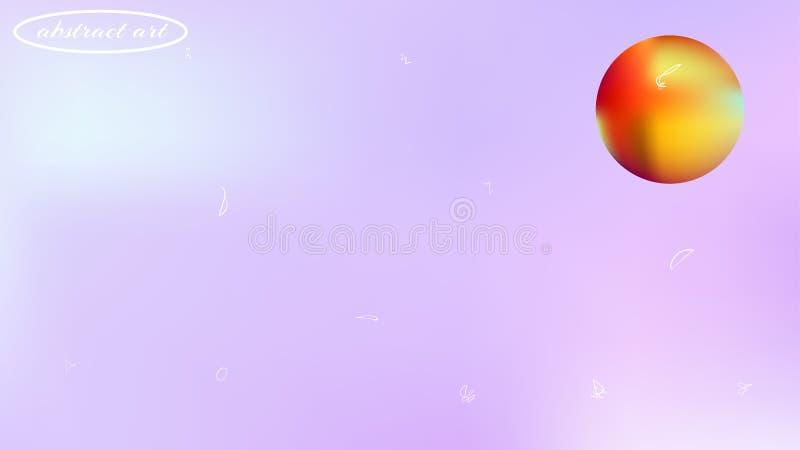 Imagen abstracta del fondo del espacio de Astonomic colorida ilustración del vector