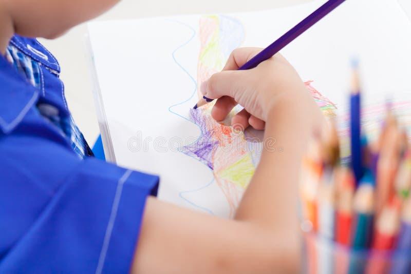Imagen adorable del dibujo del muchacho imágenes de archivo libres de regalías