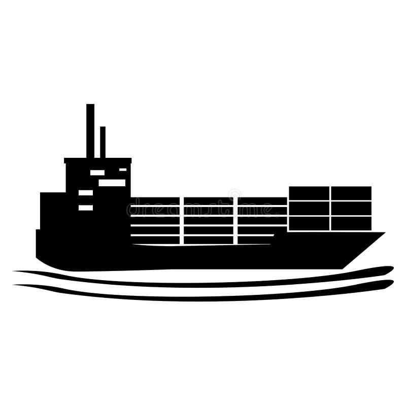 Imagen aislada del icono del carguero ilustración del vector