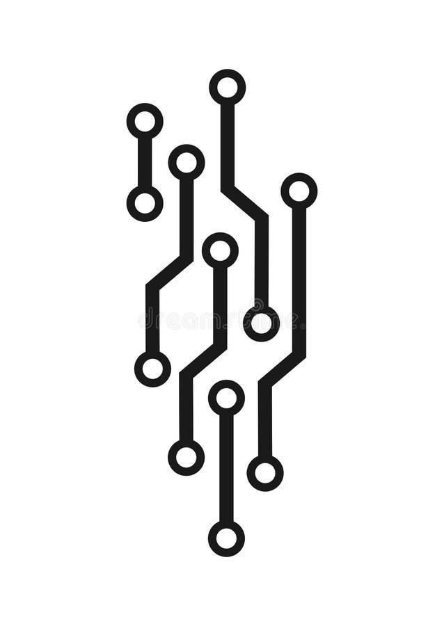 Imagen aislada tecnolog?a del vector del microcircuito stock de ilustración