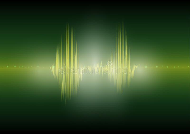 Imagen audio del vector del extracto de la tecnología del equalizador de Digitaces del fondo de la tecnología de la forma de onda stock de ilustración