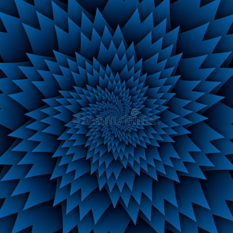 Imagen azul del cuadrado del fondo de la estrella del modelo decorativo abstracto de la mandala, modelo de la imagen del arte de  ilustración del vector