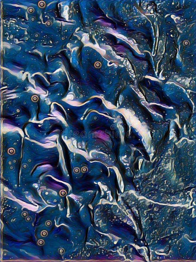 Imagen azul hermosa del papel pintado del fondo del diseño stock de ilustración
