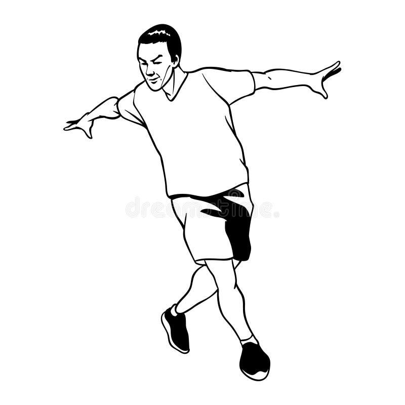 Imagen blanco y negro del b-muchacho de baile ilustración del vector