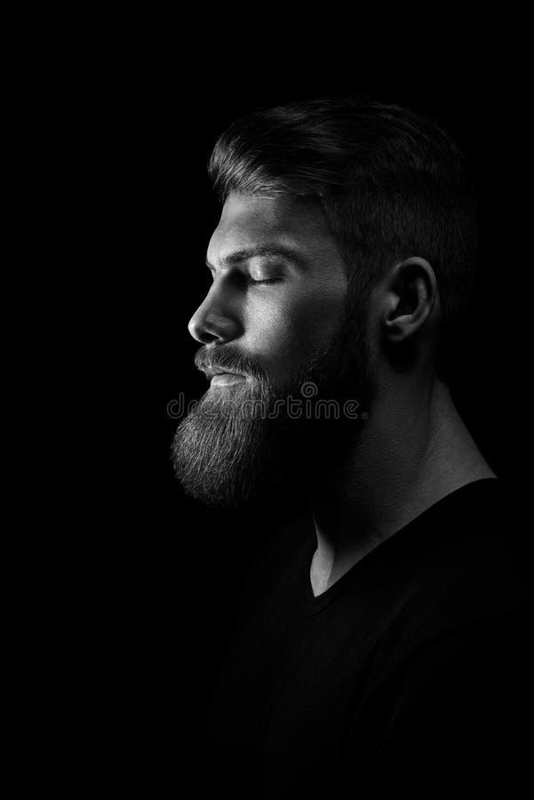 Imagen blanco y negro del inconformista atractivo de la confianza fotos de archivo libres de regalías