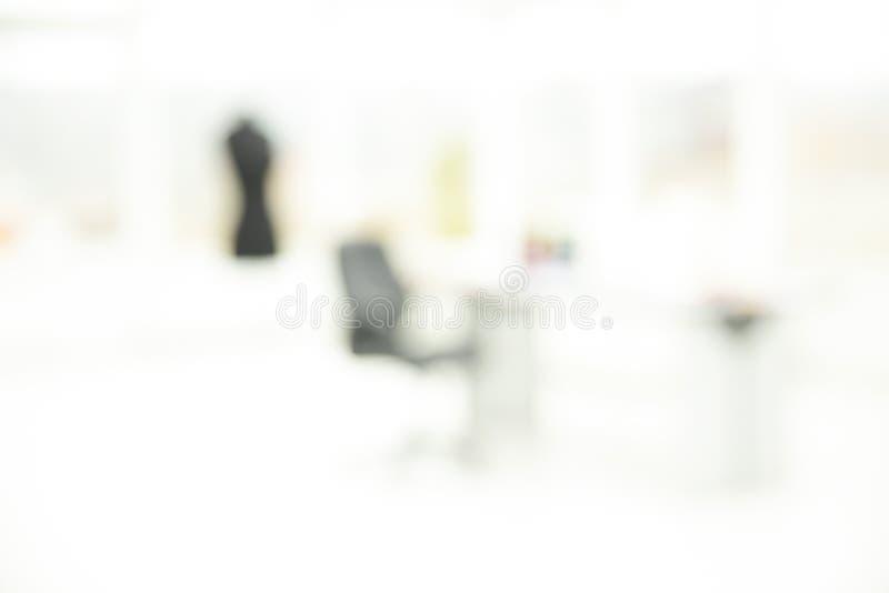 Imagen borrosa de la oficina de la moda Adaptaci?n individual imágenes de archivo libres de regalías