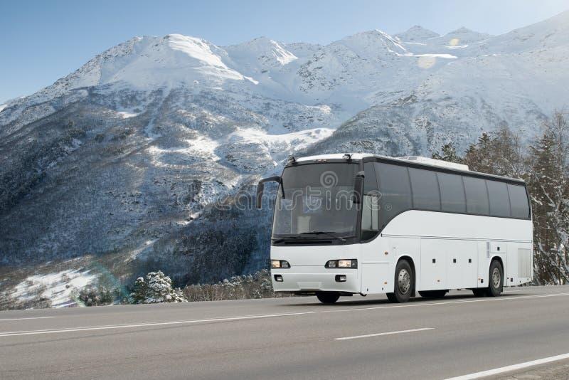 Imagen borrosa de movimiento de conducir el autobús foto de archivo libre de regalías